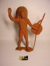 Soldatino Toy Soldier Gigante Marx originale marcato Indiano plastica cm 14