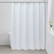 """Fabric Shower Curtain liner Mildew Resistant Microfiber With Hooks Set 72"""" x 72"""""""