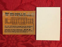 1988 Topps ERIC DAVIS #150 CINCINNATI Baseball ERROR CARD-NO FRONT-NRMT-MT