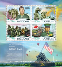 More details for togo military & war stamps 2015 mnh wwii ww2 battle of iwo jima tanks 4v m/s