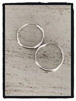 Boucles D'oreilles Créoles Lisses 2 cm Argent Massif 925/1000 Bijoux Femme