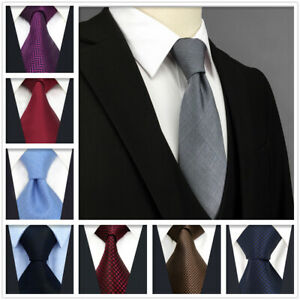 S&W SHLAX&WING Neckties for Men Solid Color Mens Tie Silk Business Wedding