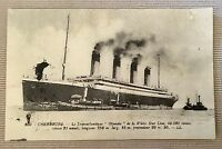 OLYMPIC POSTMARK CHERBOURG WHITE STAR LINE TITANIC BRITANNIC SISTER SHIP LINER