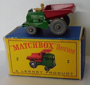 Matchbox Moko Lesney Cars, Regular Wheels, 2b Muir Hill Site Dumper