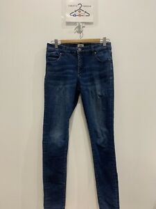 Just Jeans Womens designer Curve Extra high rise skinny blue jeans size 10  EUC