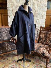 Stella McCartney Navy Swing Pea Coat Dress Oversized Slouch Cute Xl Xxl 40 W16