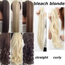 thick Clip In Ponytail Pony Tail Hair Extension Hair Piece Wavy Straight linkt