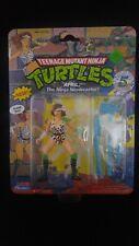 APRIL Ninja Newscaster Playmates TMNT Vintage 1992 MOC Mutant Turtles 5th Ann.