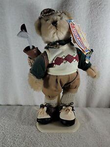 "Brass Button Sports Bear 12"" CROSBY Golf Bear Plush Stuffed Animal"