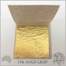 10 Pure 24K Gold Leaf Sheets Book 3cm x 3cm (100% Guaranteed & Certified Edible)