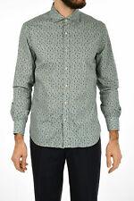 CORNELIANI men Shirts Sz 40 cm ID Floral Print Cotton Shirt Long Sleeve Green...
