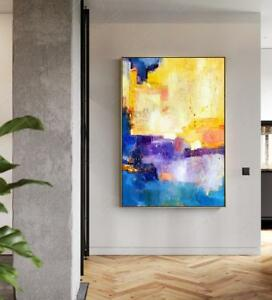 YA808 Modern Home decor Large Abstract oil painting Hand-painted Color art