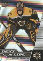 2015-16 Upper Deck Overtime Next in Line #NL18 Malcolm Subban Boston Bruins