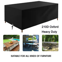 Heavy Duty 210D Garden Rattan Outdoor Furniture Cover Patio Table Rain Protector