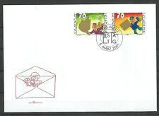 LIECHTENSTEIN/ Grußmarken MiNr 1257/58 FDC