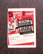 M303- Advertising Pubblicità -1960- CONCORSO NEOCERA NEOCID AEROSOL