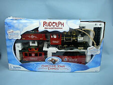 Rudolph The Red Nose Reindeer G-Scale Christmas Town Express Train Set W/Box