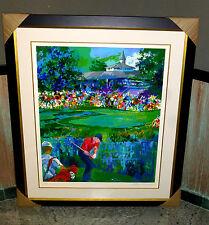 "LE ROY NEIMAN ORIGINAL RARE TIGER WOODS SERIGRAPH VALHALLA PGA 2000 FRAMED ""WOW"""