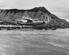 "PAN AMERICAN SIKORSKY S-42 CLIPPER SEA PLANE 1935 DIAMOND HEAD 8x10"" B&W PHOTO"