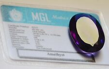68,16ct  Intense Purple Amethyst - Oval cut & facet - Huge size - IF - India