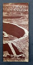 Vintage 1966 Chaco Canyon National Monument New Mexico US Travel Map Brochure