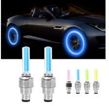 2020 HOT SALE Waterproof Led Wheel Lights Valve Cap Flash Spoke Neon Lamp