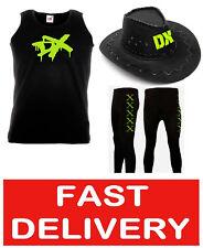 GENERATION DX FANCY DRESS WRESTLING WRESTLER VEST, PANTS & COWBOY HAT STAG HEN