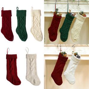 46CM Xmas Decoration Socks Christmas Stocking Hanging Ornaments Candy Gift Bag