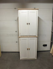 HAMPSHIRE PAINTED TALL LINEN STORAGE CUPBOARD BESPOKE SIZES & COLOURS - IVORY