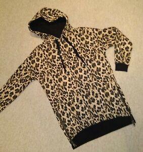 New Leopard Ladies Animal Print Size 6/8 Hoody Hoodie