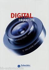 Prospekt Schneider Digitalobjektive Objektive 2014 Digitar Apo-Digitar brochure