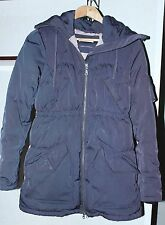 Ladies Odd Molly Hooded Coat Jacket With Pockets Zipper Gray To Violet Size 2