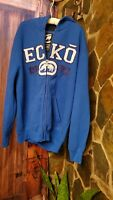 Vtg Ecko UnLimited Mens Blue Zip Hoodie sweater XLarge varsity letters style