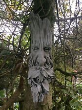 STONE GARDEN GREEN MAN LEAF FACE / BRANCHES WALL TREE PLAQUE HANGING PAGAN