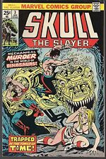 """SKULL THE SLAYER #3 MARVEL 01/76 MECHA-DINOSAURS """"TRAPPED IN TOWER OF TIME"""" VF"""