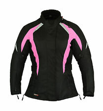 Shocking Pink Ladies Motorbike Womens Jacket Waterproof  M