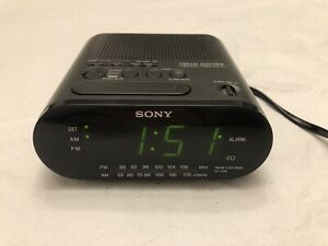 Sony Dream Machine ICF-C218 Auto Time Set Dual Alarm AM/FM Clock Radio Working