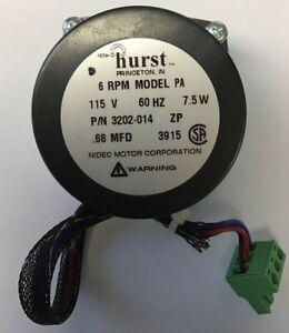 HURST 3202-014 GEAR MOTOR 6RPM MODEL PA 115V 60HZ 7.5W .68MFD