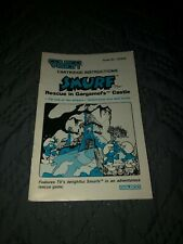 Coleco Vision 1982 Smurf Rescue In Gargamel's Castle Manual Only SHIPS FREE!!!