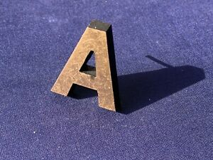 Letter A Vintage 1980's Metal Letters Made in Europe Initial Hand Made 3D