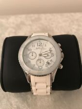 Authentic MICHAEL KORS White Rubber Band Watch - MBM2545 - GUC