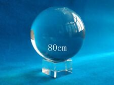 80mm Feng Shui Clear Crystal Ball + Stand Collection /Gift Contact Juggling