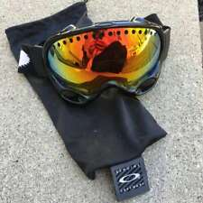 Oakley A Frame Ski Goggles with Cloth Bag Mirrored Lens