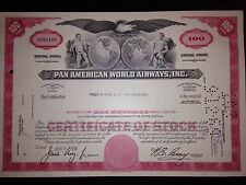 Pan American Airlines (Pan Am) stock certificate original aviation collectible