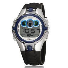 OHSEN Blue Child LED Digital Chronograph Alarm Waterproof Quartz Wrist Watches