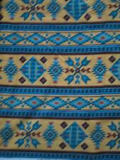 Navajo Native American Beaded Like Floral Yellow Border Print Cotton Fabric FQ