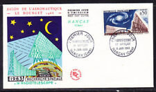 France 1963  - 50c Radio Telescope Pictorial First Day Cover Unaddressed