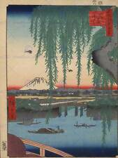 UTAGAWA HIROSHIGE JAPANESE POSTER 100 VIEWS EDO 062 ART PAINTING PRINT 2693OM