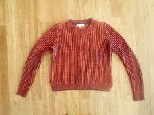 CABi Orange Purple stripe Sweater Size S