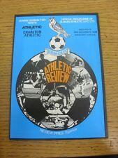 30/12/1978 Oldham Athletic v Charlton Athletic  . Item appears to be in good con